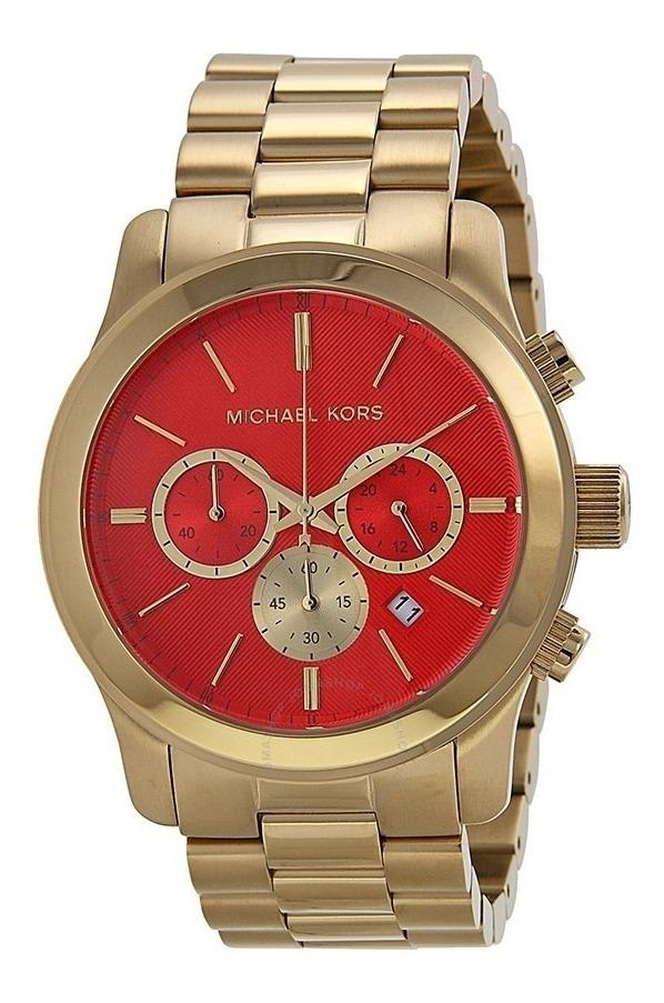 Kors Reloj Runway Mujeres Michael Dorado Mk5930 Rojo uXPZki