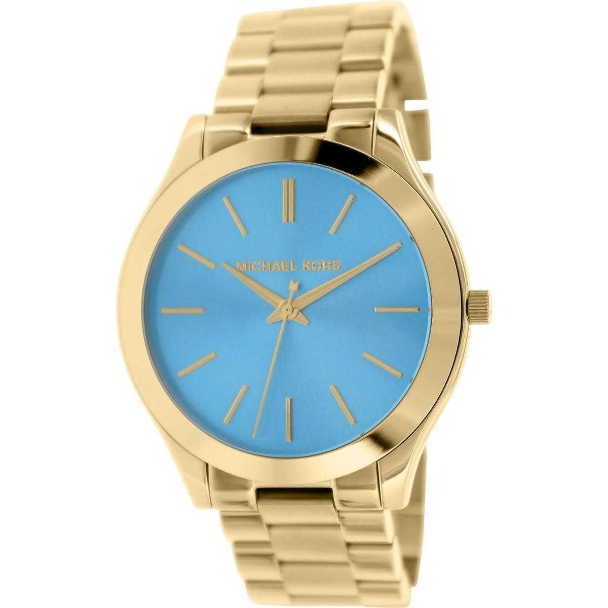d4e8ffc69f37 reloj michael kors para mujer mk3265 esfera azul de acero. Cargando zoom.