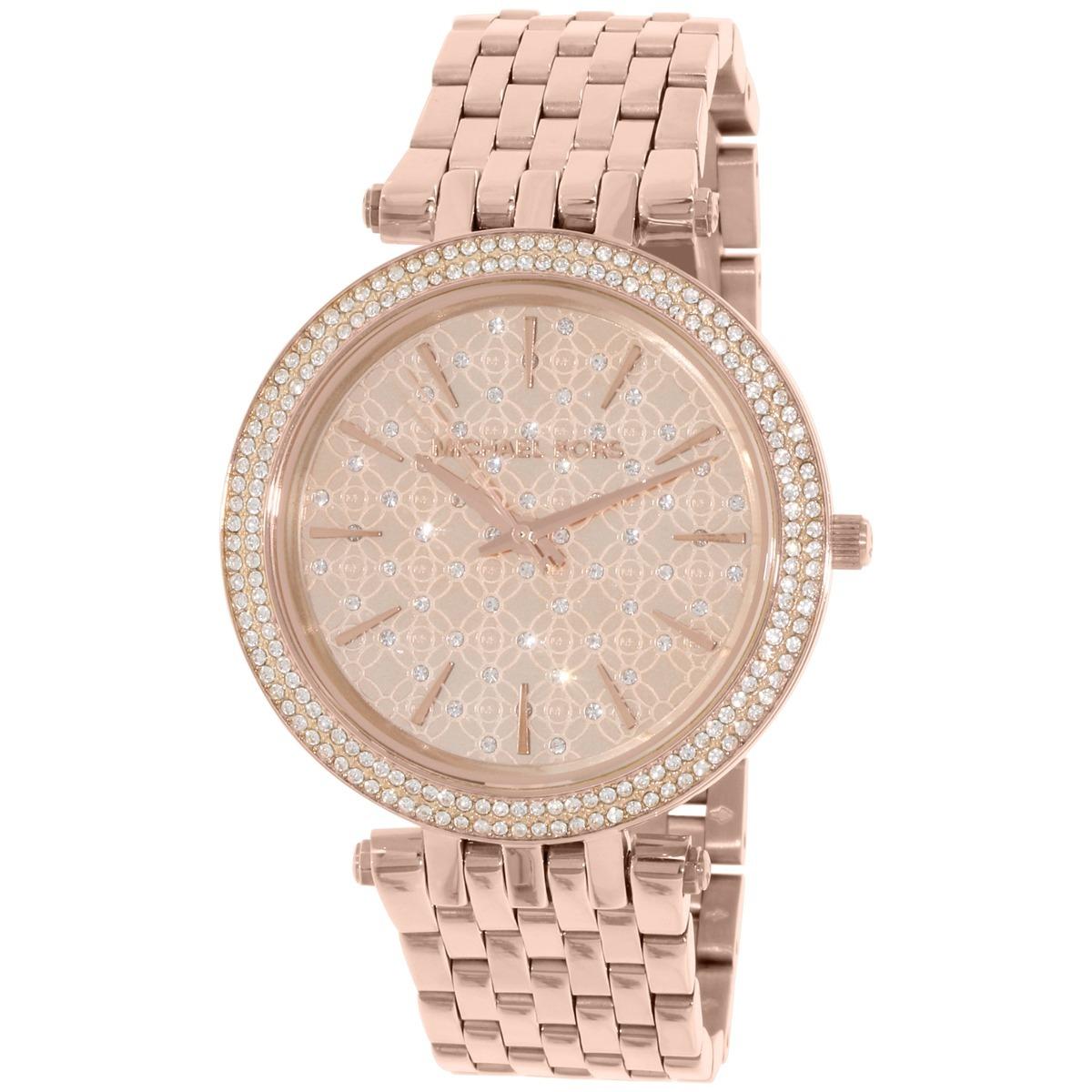 00247bce6e39 reloj michael kors para mujer mk3399 tono oro rosa de acero. Cargando zoom.