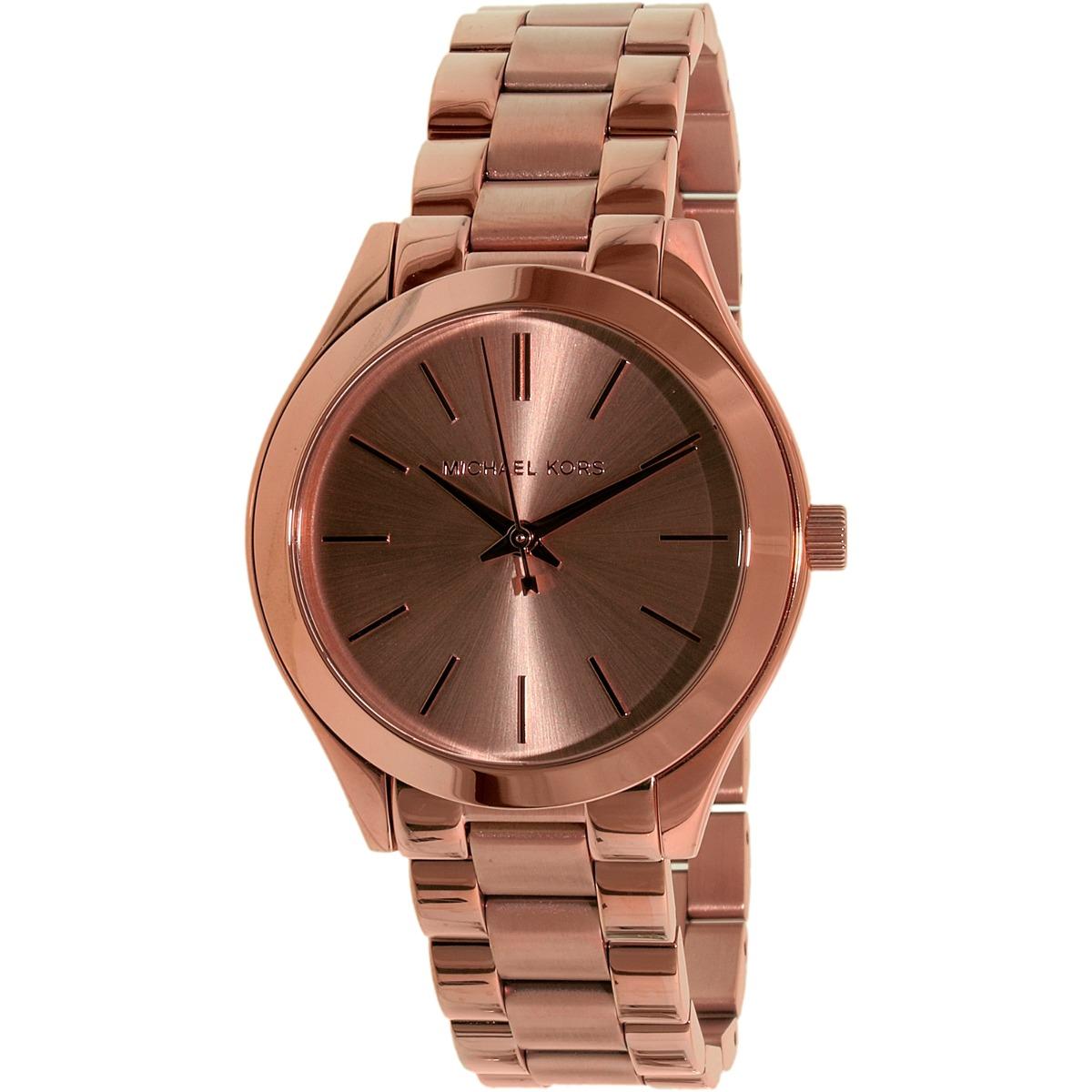 879c10151318 reloj michael kors para mujer mk3513 tono oro rosa de acero. Cargando zoom.