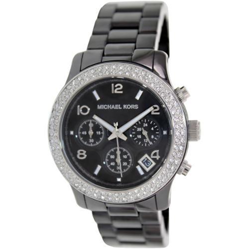Mk5190 Kors Michael Para Correa Reloj Negro Mujer wOkN80XnP