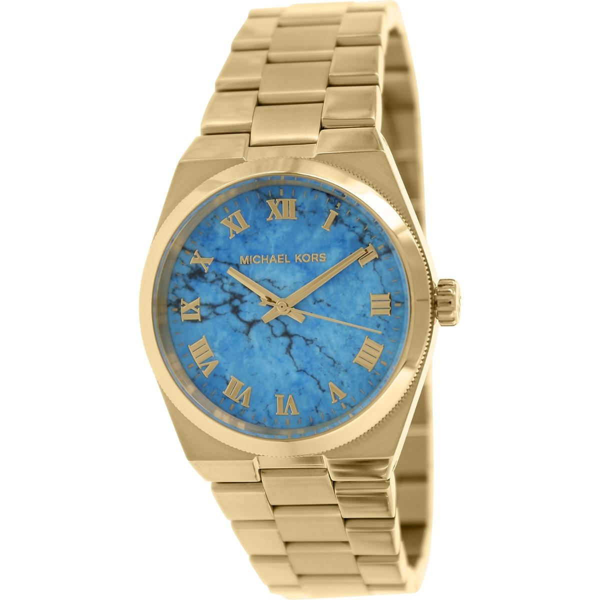 Para Oro Tono De Acero Mujer Michael Mk5894 Kors Reloj I2Y9DWEH