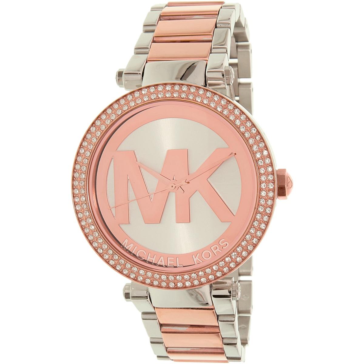 cd144db81244 reloj michael kors para mujer mk6314 parker color oro-rosa. Cargando zoom.