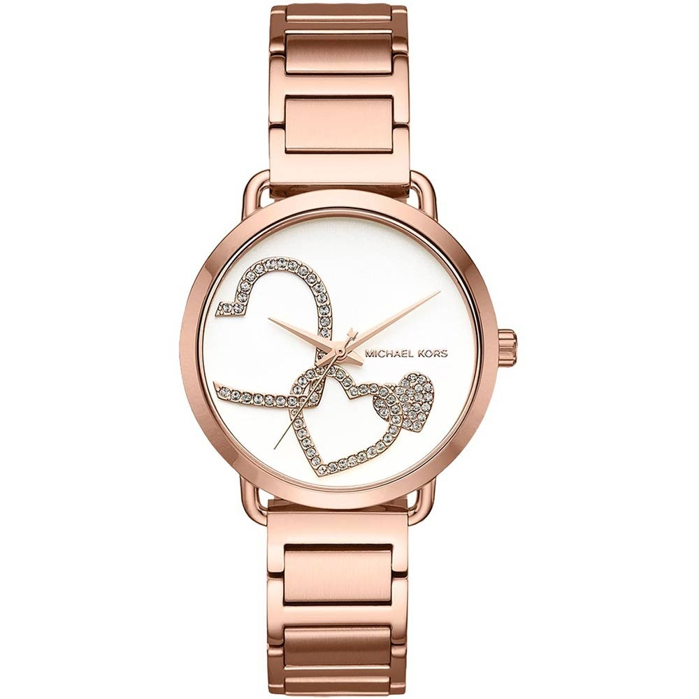 b9a00e724db53 reloj michael kors portia mk3825 con corazón p  dama e-watch. Cargando zoom.