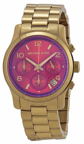 reloj michael kors runway acero tono dorado mujer mk5939