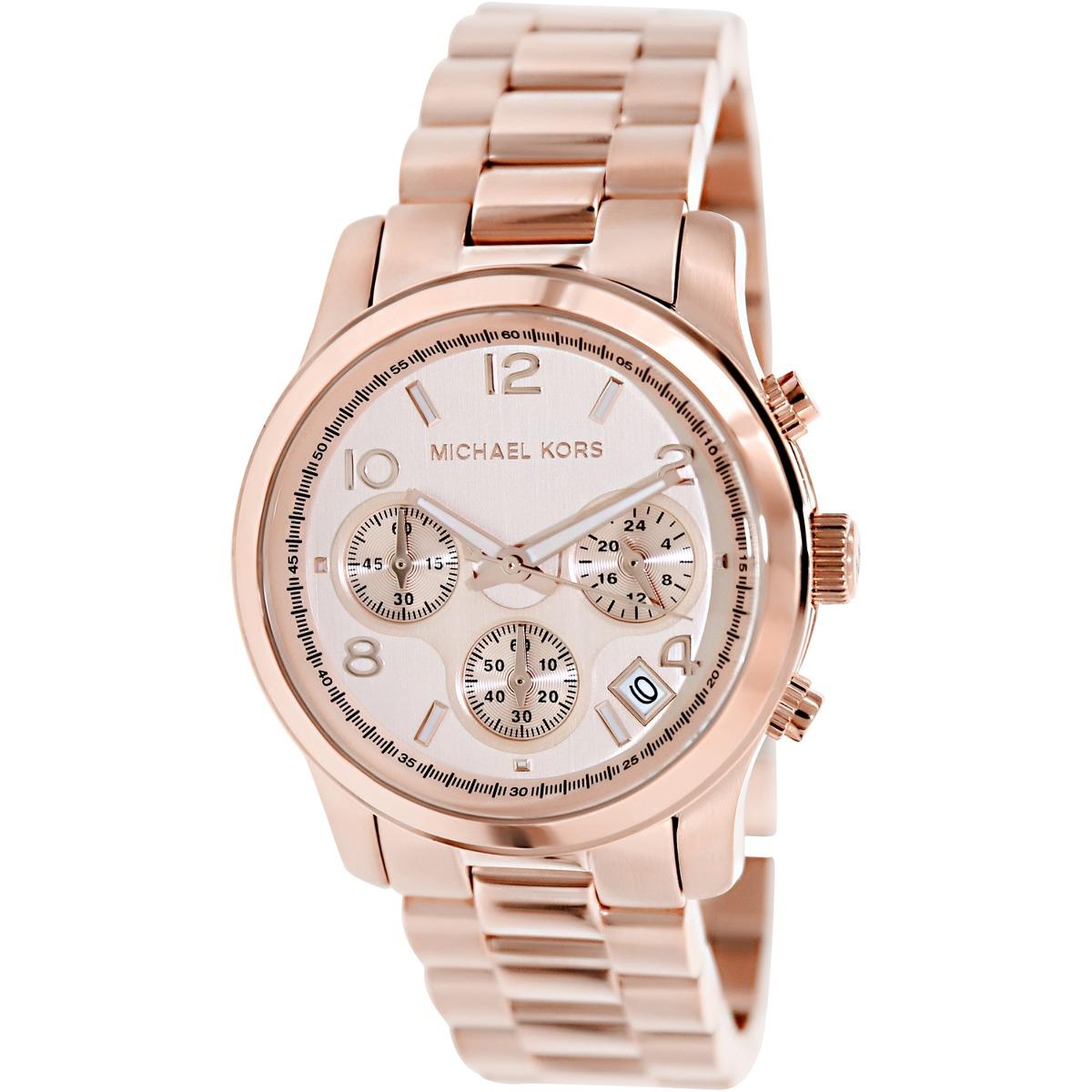 5aa40675dc40 reloj michael kors runway mk5128 color oro rosa p mujer. Cargando zoom.
