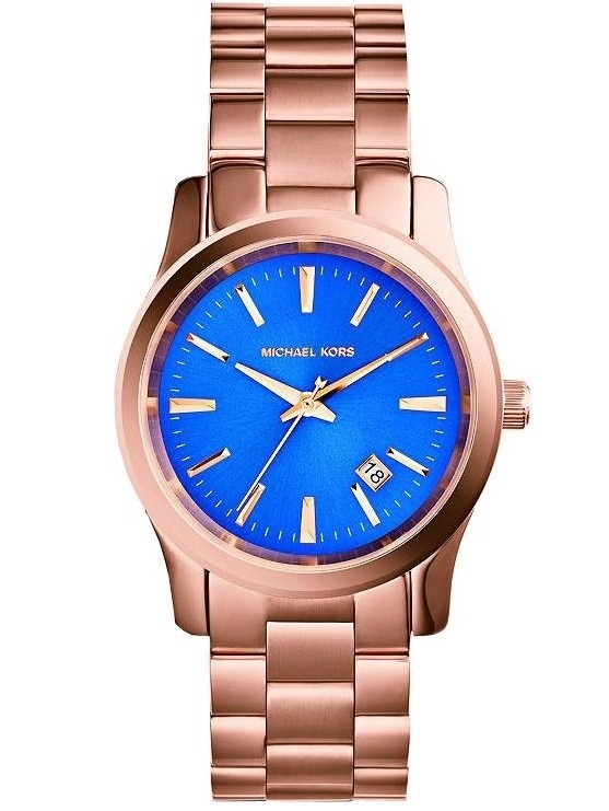 Michael Kors Dorado Reloj Runway Azul AceroGarantia Mk5913 lK1c3TJF