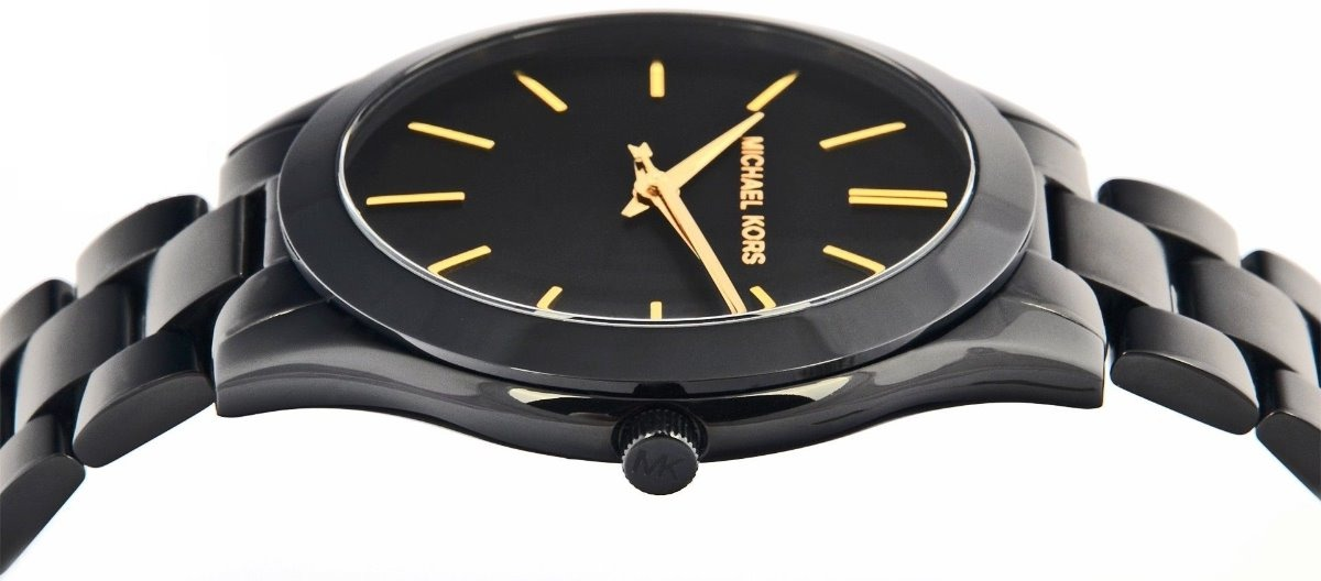 0ac3368fce2d reloj michael kors slim runway mk3221 negro original de dama. Cargando zoom.