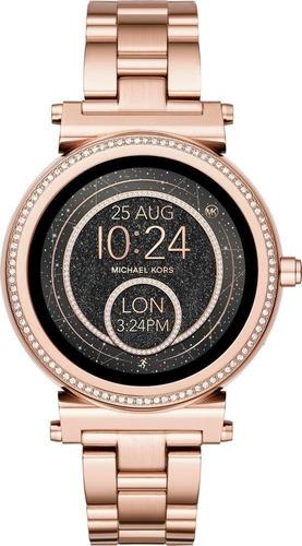 reloj michael kors smartwatch sofie oro rosa caja cerrada
