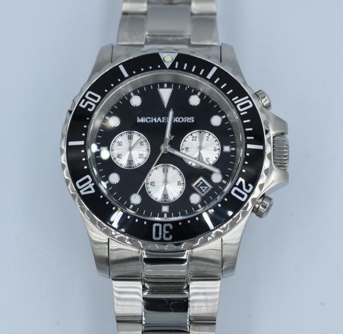 reloj michel kors mk2856 negro/plata envi gratis original