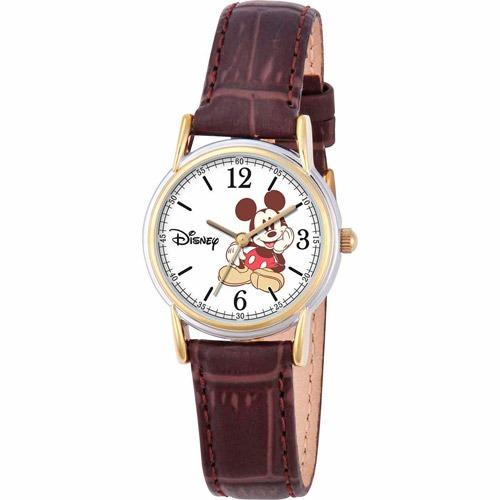 Reloj Mickey Mouse Para Mujer W000551 Correa Café -   1 c0431dba502c
