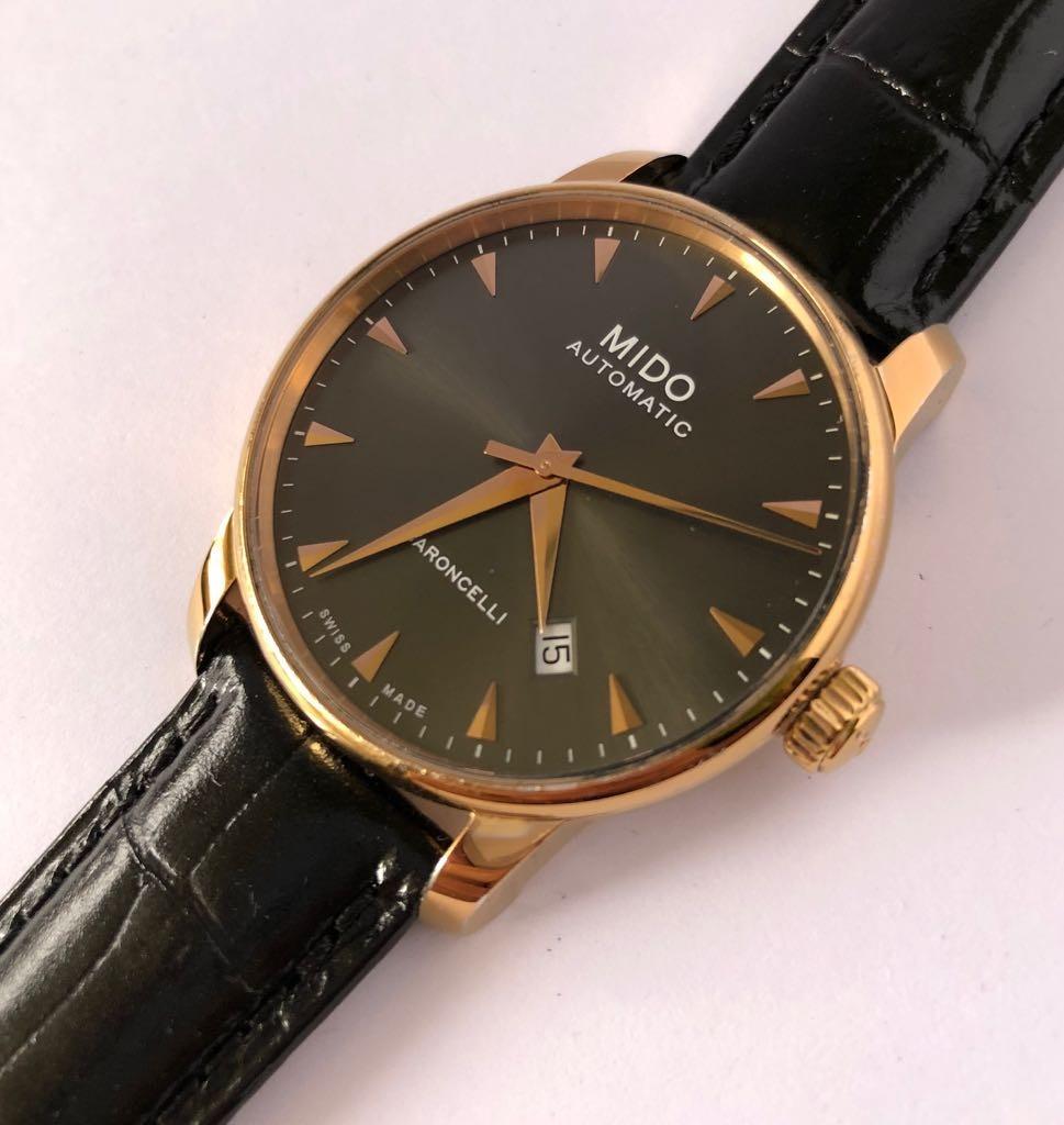 3d326840276d reloj mido baroncelli acero dorado. Cargando zoom.