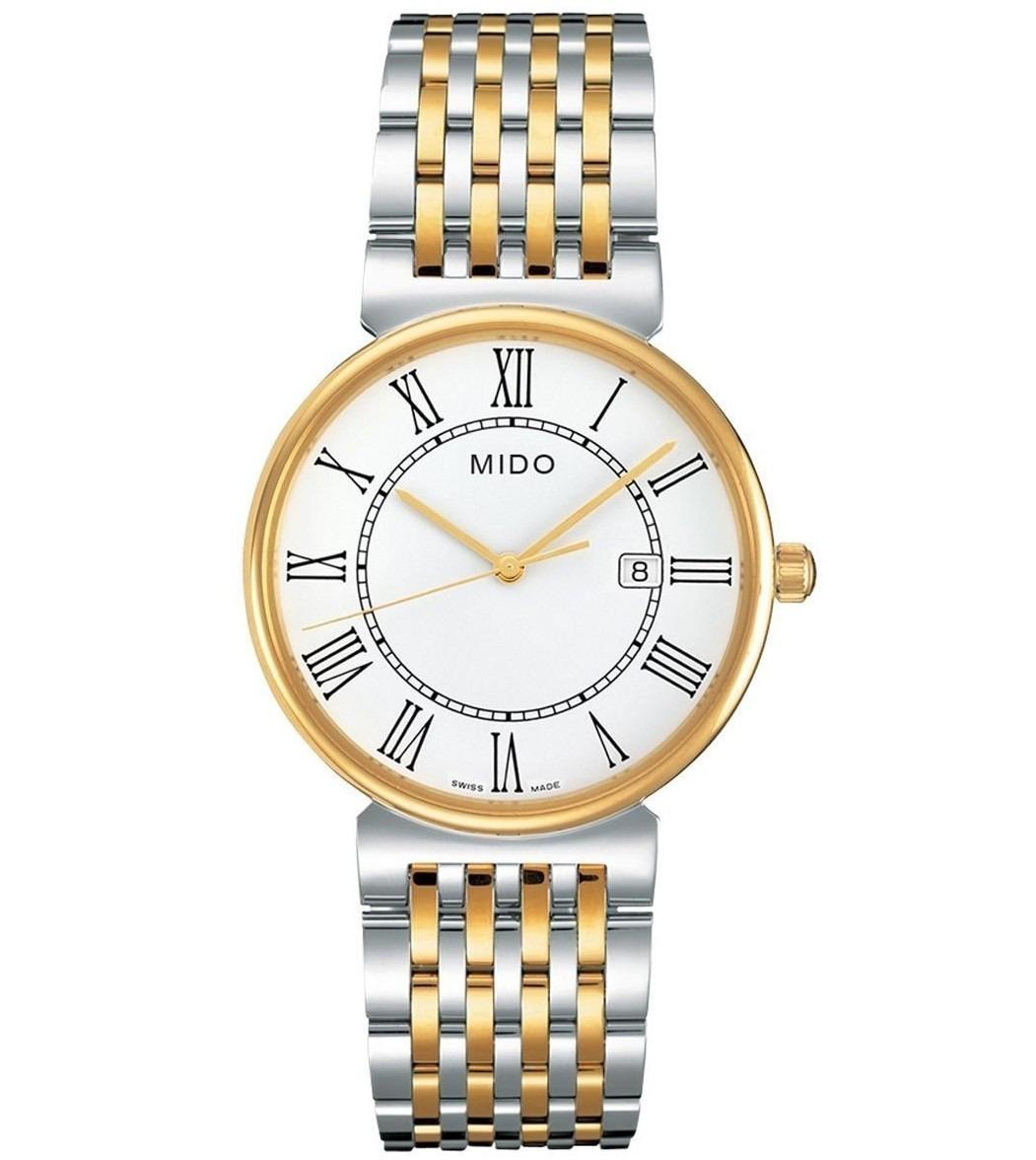 653842925088 Reloj Mido Baroncelli M0096102201300 Acero Plateado dorado ...