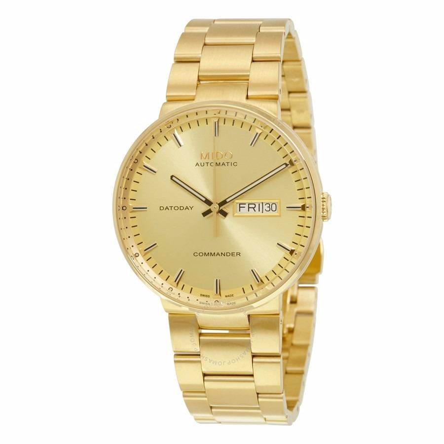 fe3e85c23b15 reloj mido commander 2 automático dorado hombre m01443033021. Cargando zoom.