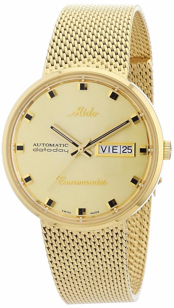 a61da0c1a98a reloj mido commander automatico m842932213 dorado caballero . Cargando zoom.