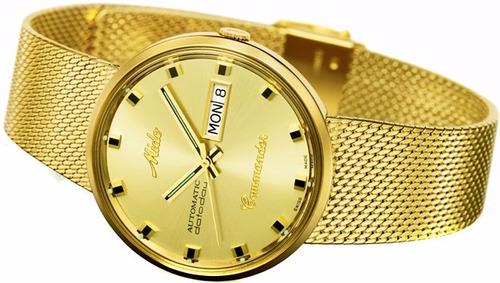 reloj mido commander automatico m842932213 dorado caballero*