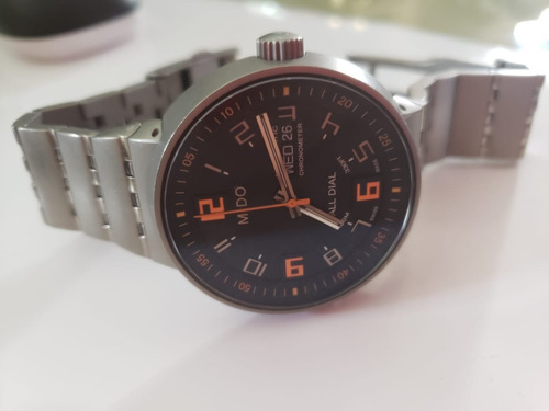 reloj mido m83408d811 hombre all dial automático titanium