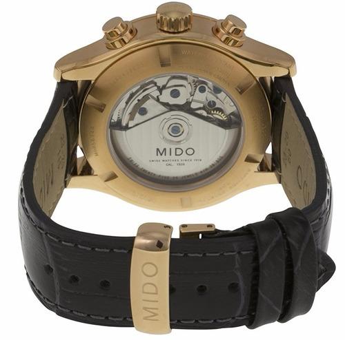 reloj mido multifort automático piel negra m0056143606252