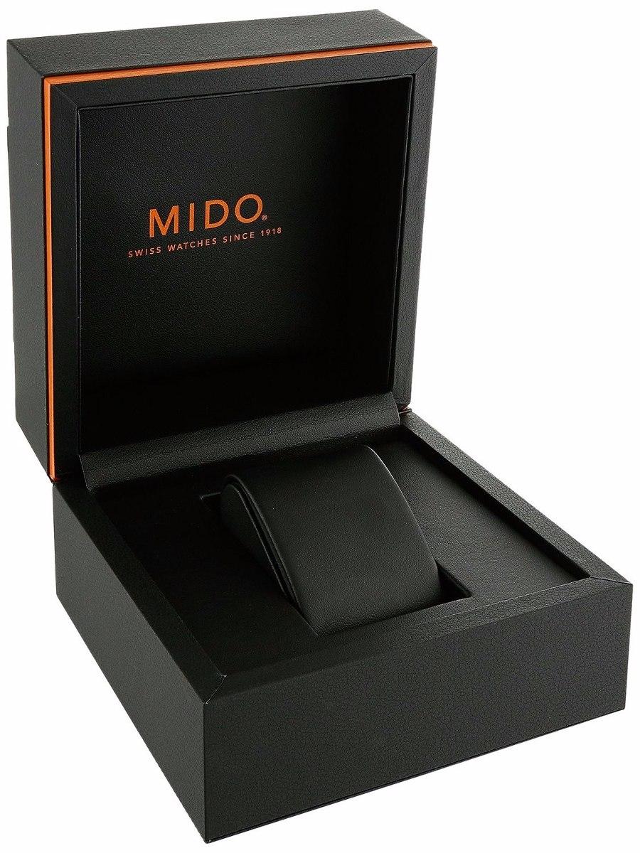 Reloj Mido Multifort Cron 243 Grafo Piel Negra M0054173605120