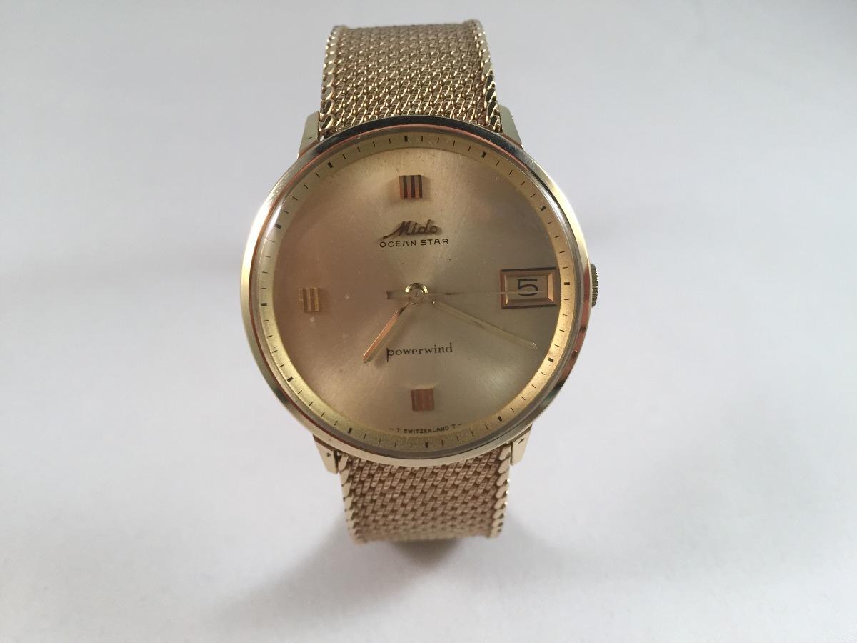 2f99996e37fc reloj mido ocean star powerwind de oro 14 k. Cargando zoom.