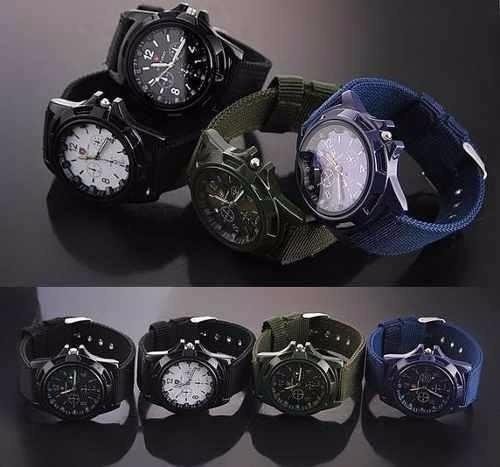 reloj  militar gemius army correa nylon con caja de regalo