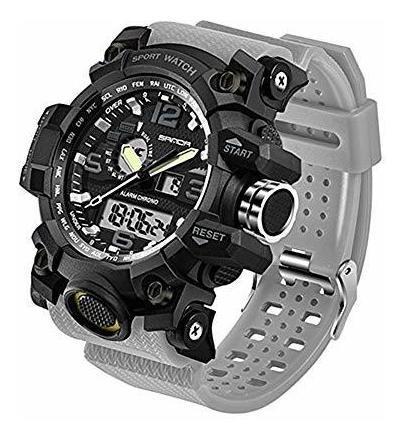 reloj militar para hombre, doble pantalla, impermeable, depo