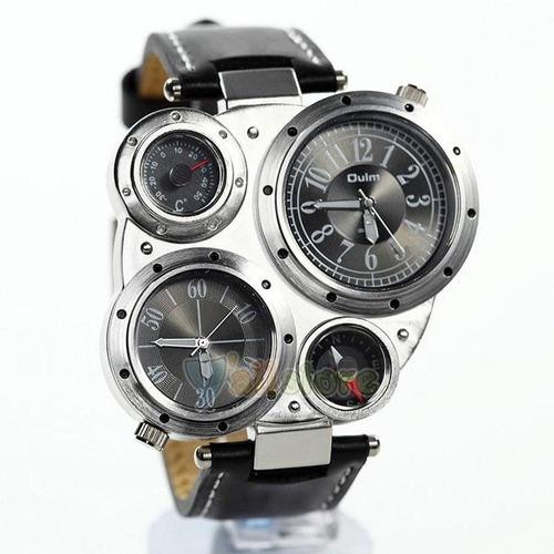 reloj militar ruso muti-time brujula y temperatura colores