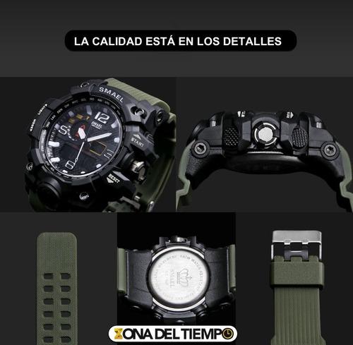 reloj militar smael s shock táctico sumergible 50m camuflaje