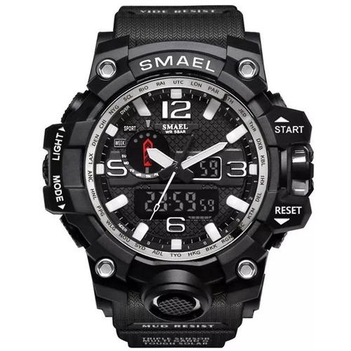 reloj militar smael  s-shock varioscolores alarma sumergible