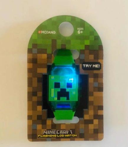 reloj minecraft flashing led watch  nuevo  original