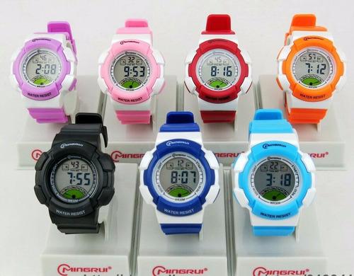 reloj mingrui original para niños resistente al agua 30 mts