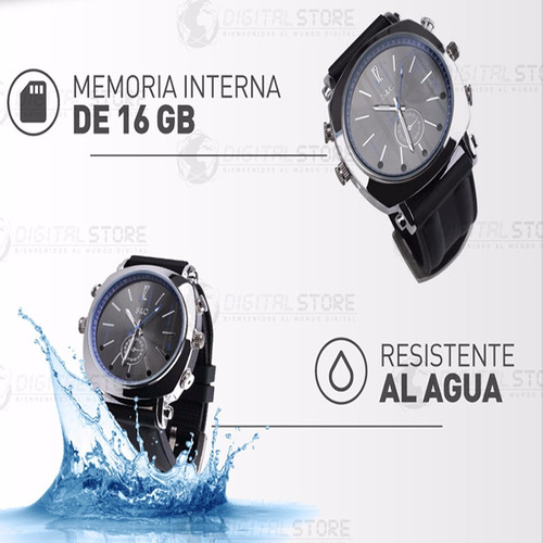 reloj mini camara espia oculta seguridad dvr full hd 16gb ir