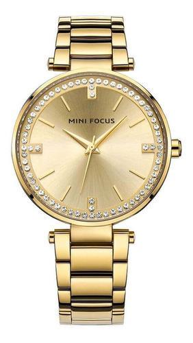 reloj minifocus 0031l relojes para dama dorado