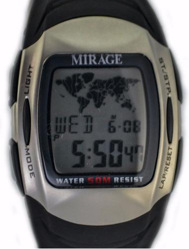 reloj mirage by seiko wt gear 5 alarmas hora mundial garanti