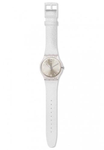 reloj mirrormellow plateado swatch