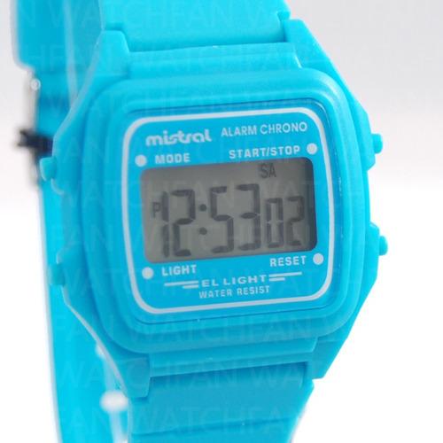 reloj mistral cronometro retro vintage iluminacion led wr