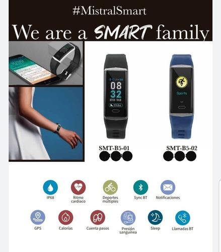 reloj mistral smartwatch- azul- smtb502