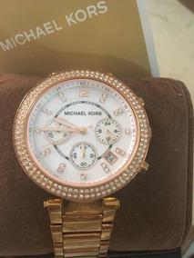 Elegante Oro Lujoso Dama Mk Original Reloj Y Rosa ymf7gvIYb6
