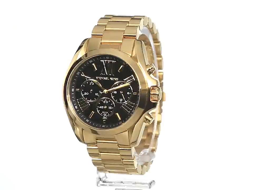 Bradshaw Mk5739 Reloj Oro Tono Kors Michael Moderno De 54Rq3AcLSj