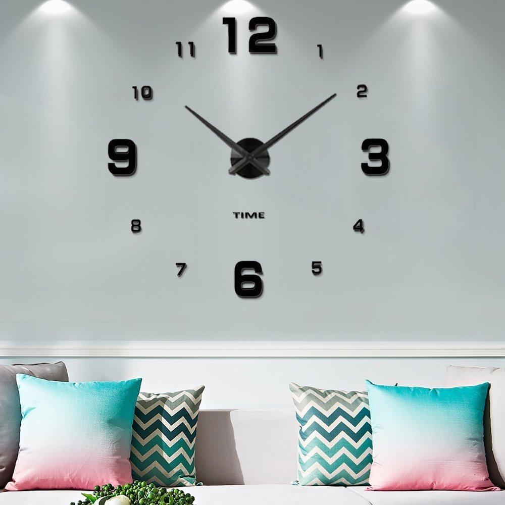 Reloj Moderno De Pared 3d Decoración Sala Recamara Mintime 2 ...
