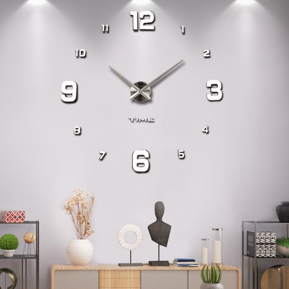 Reloj moderno de pared 3d decoraci n sala recamara mintime - Reloj decorativo de pared ...