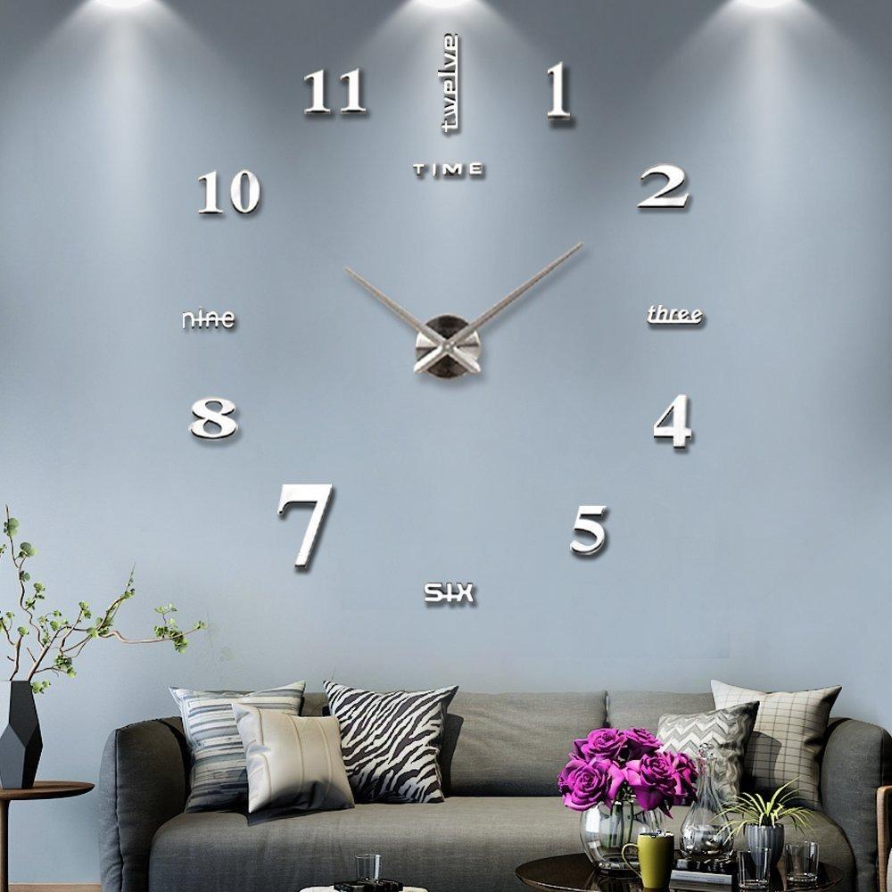 Reloj Moderno De Pared 3d Decoración Sala Recamara Mintime 4