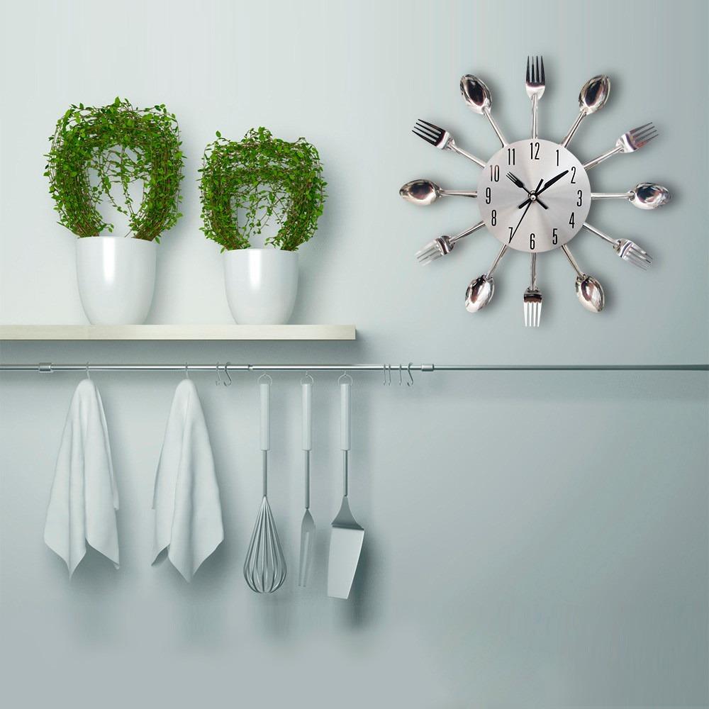 Reloj moderno de pared cubiertos para cocina h9030 en mercado libre - Reloj de pared para cocina ...