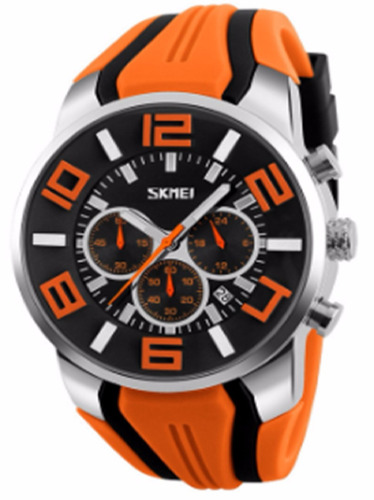 reloj moderno orange fashion hombre