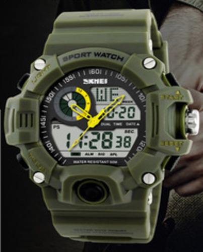 reloj moderno tactico militar generacion terminator verde