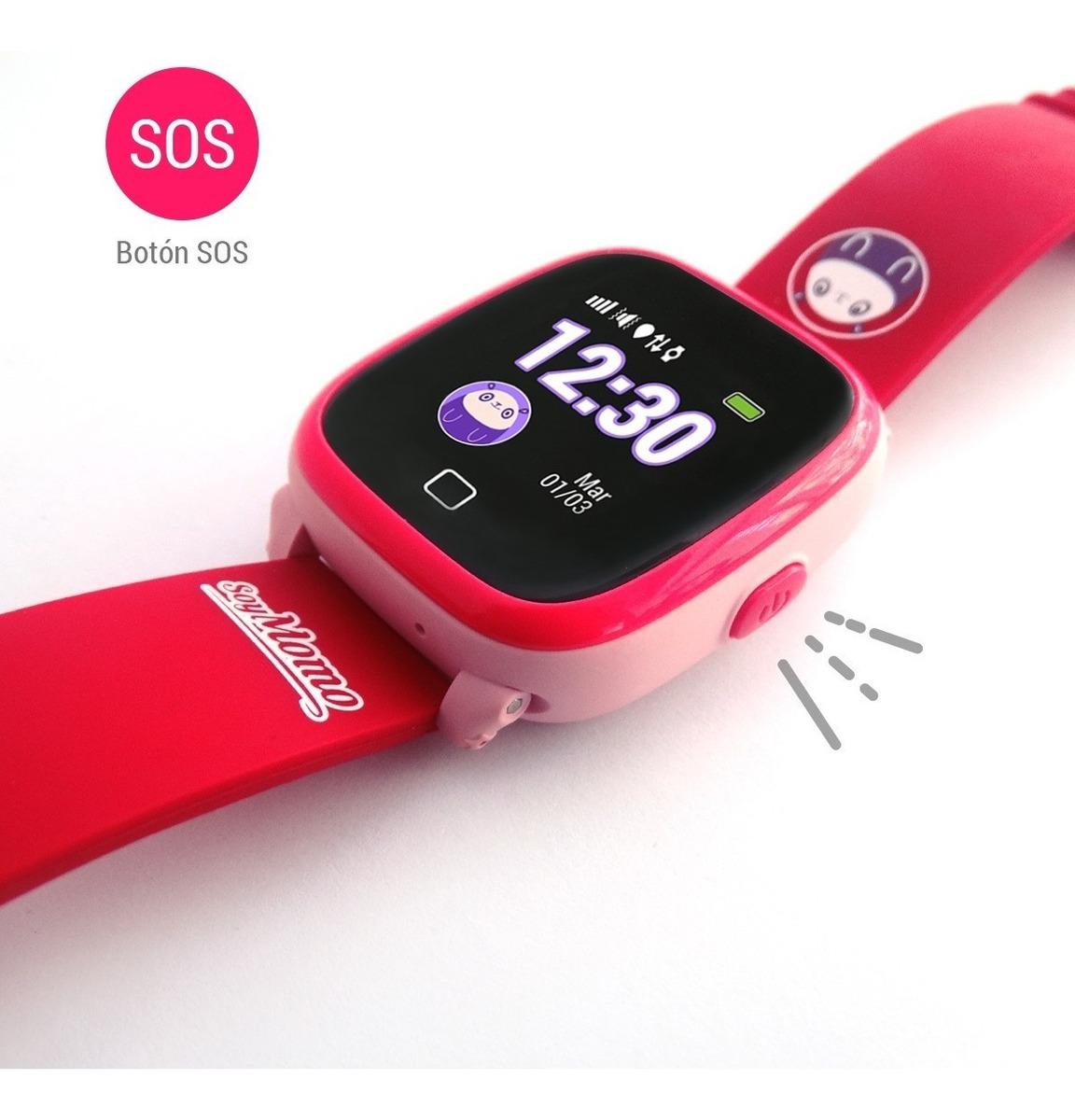 código promocional 9b8ad a6d52 Reloj Momo H2o Gps Para Niños + Sim Rosado - Prophone