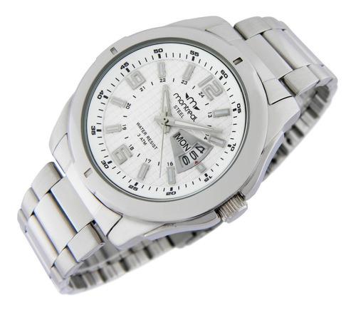reloj montreal hombre 100% acero ml390 envío gratis sumerg