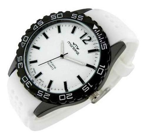 reloj montreal hombre ml267 sumergible malla silicona