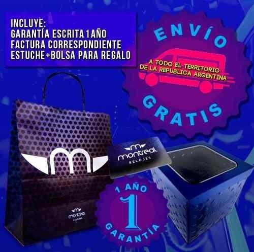 reloj montreal hombre ml446 sumergible envío gratis