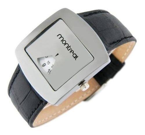reloj montreal hombre ml465 metal malla cuero sintético